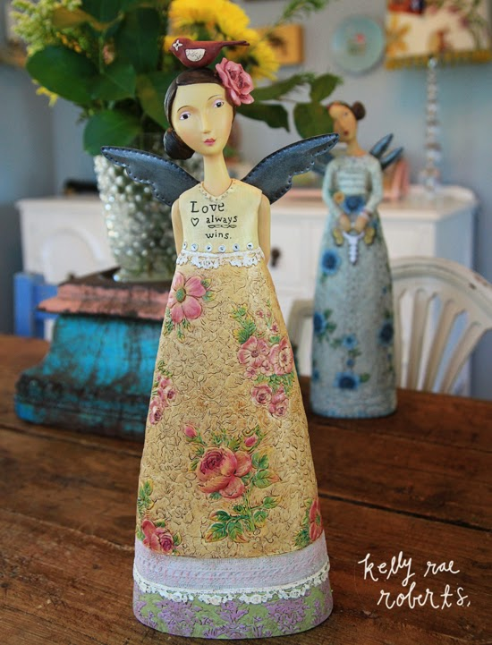 Kelly Rae's figurines (produced by her licensee, DEMDACO) are perennial best sellers.