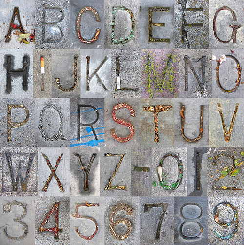 My inner designer loves all things typographic, such as this alphabet created from photos of San Francisco street names stamped into street corner sidewalks. ©2015 Troy Litten