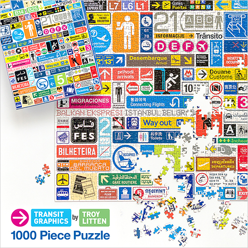 """""""Transit Graphics 1000 Piece Puzzle"""" published by Galison in 2013. ©2015 Troy Litten"""