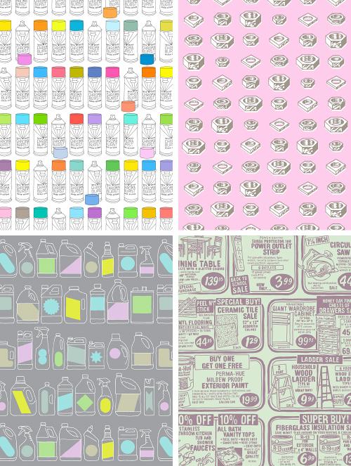 """""""Hardware Store"""" pattern series exploration. ©2015 Troy Litten"""