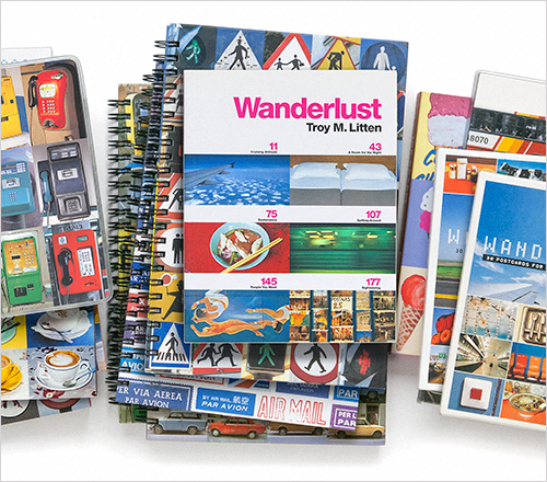 """Fueled by an appreciation of and fascination with all forms of visual culture, communication, and expression, I travel the world documenting my experiences and adventures. The result is """"Wanderlust"""", my series of travel-themed books, journals, postcards, notecards, and more. ©2015 Troy Litten"""