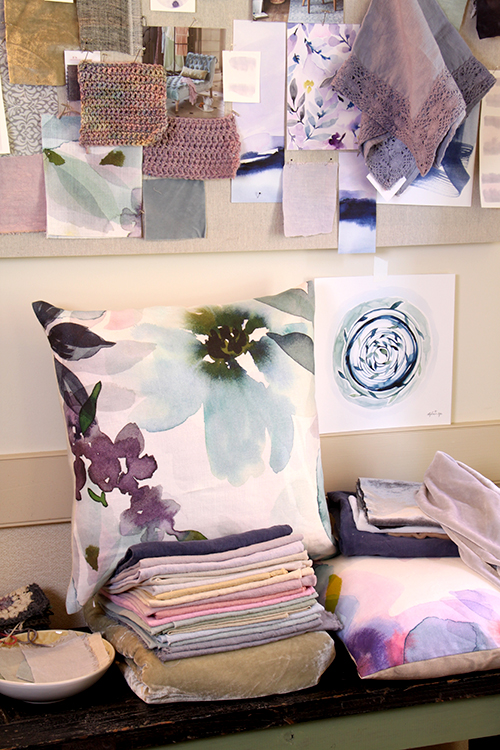 A peek at some of Stephanie's Art + Alchemy product prototypes and mood board