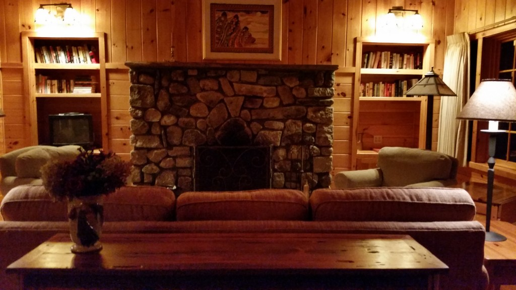 Guest Cabin Fireplace