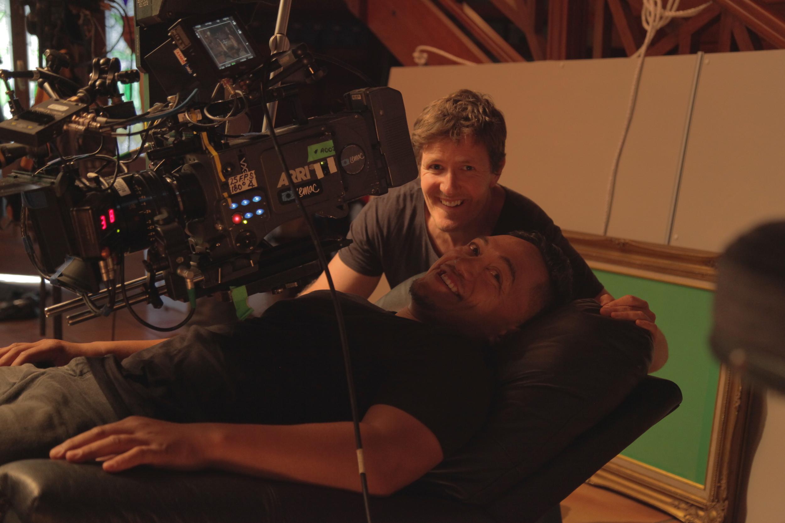 DirectorFrazer Bailey adjusting positions withTaungaroa Emile