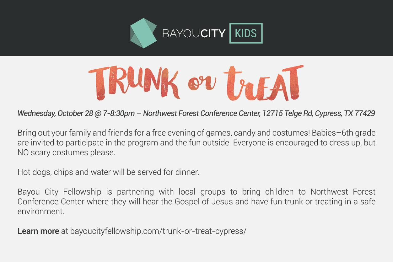 Trunk or Treat- Cypress