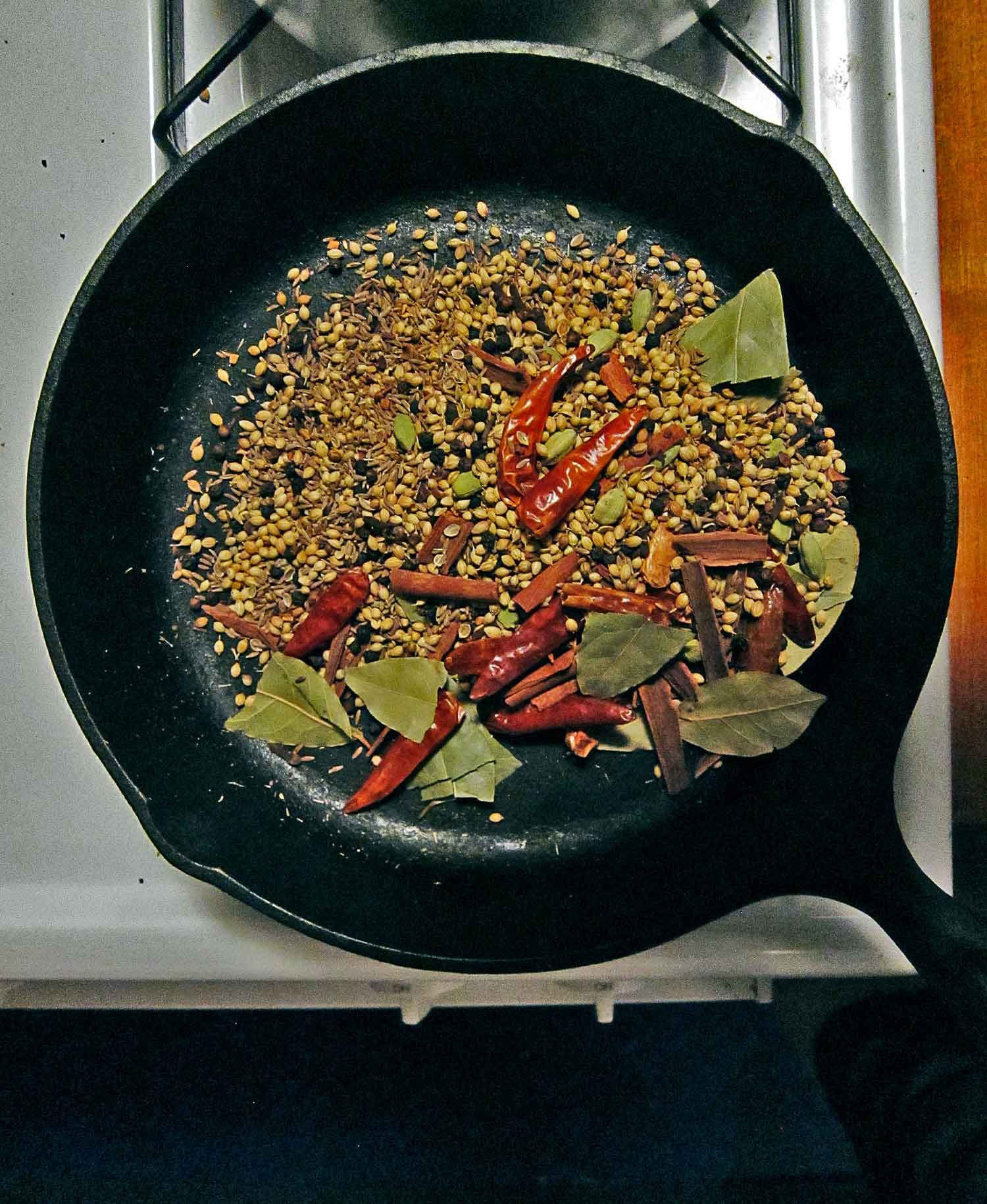 Toasting concentrates the spices' essence.
