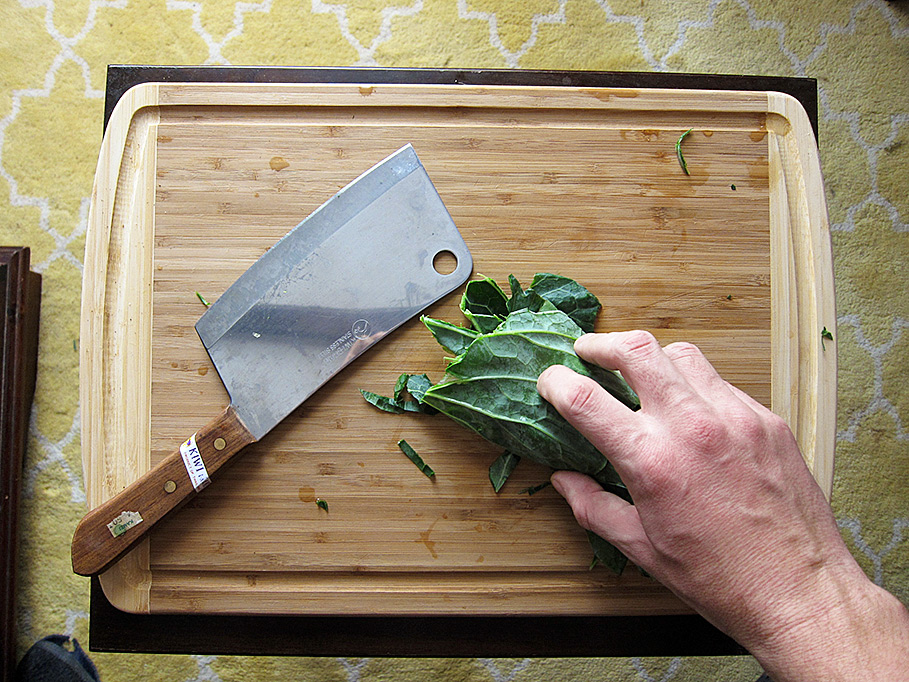 Slice them thin but watch those fingers!