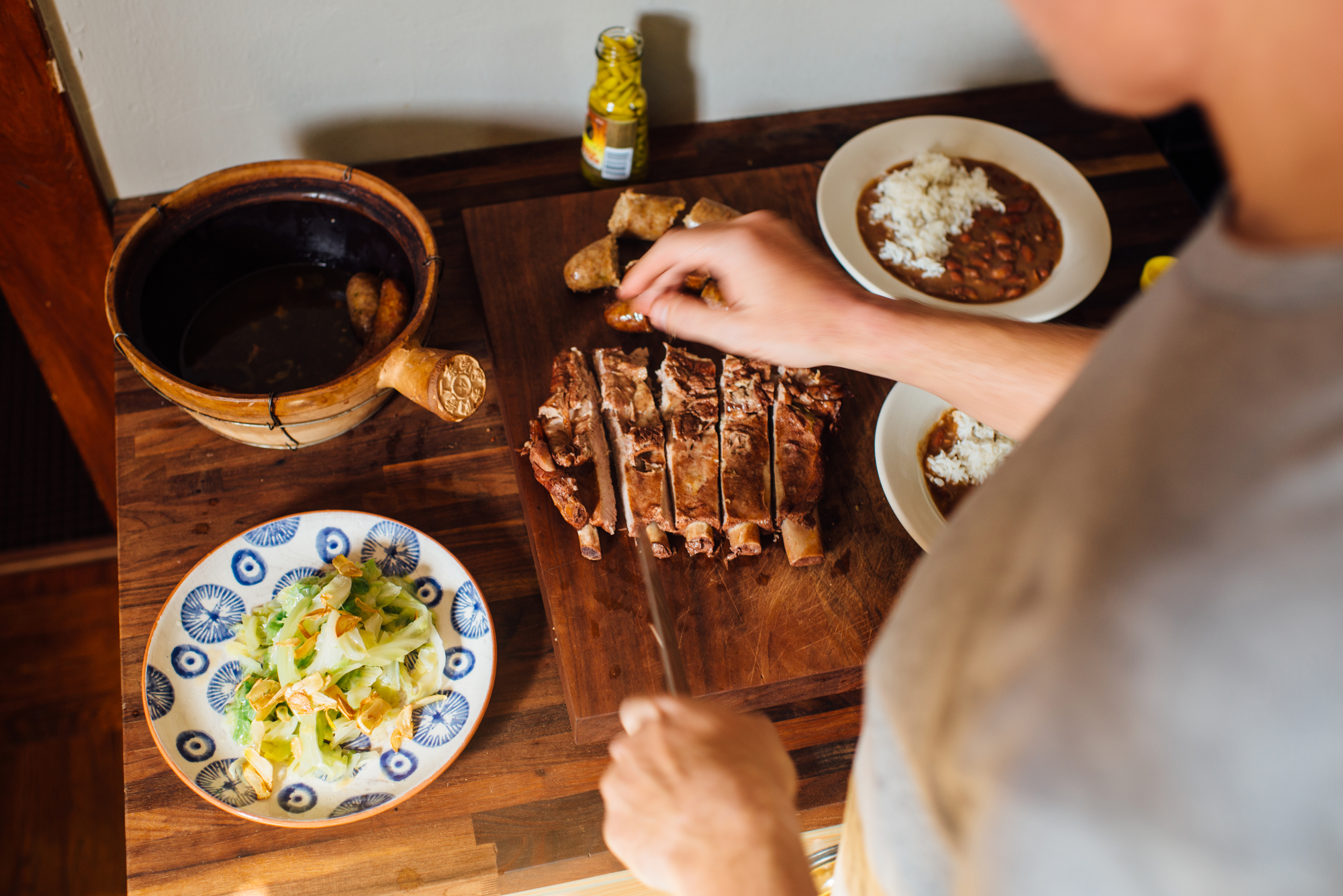 Making ribs manageable. 📷:  Denny Culbert