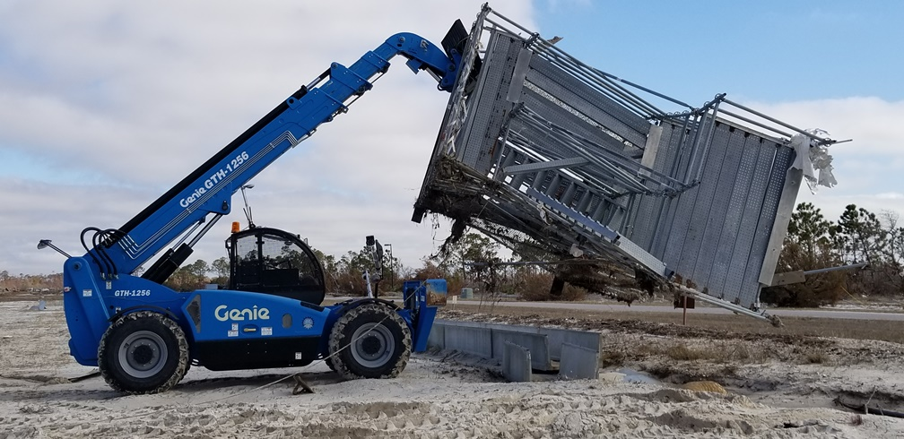 RE2 Robotics performs robotic disaster clean-up after Hurricane Michael.