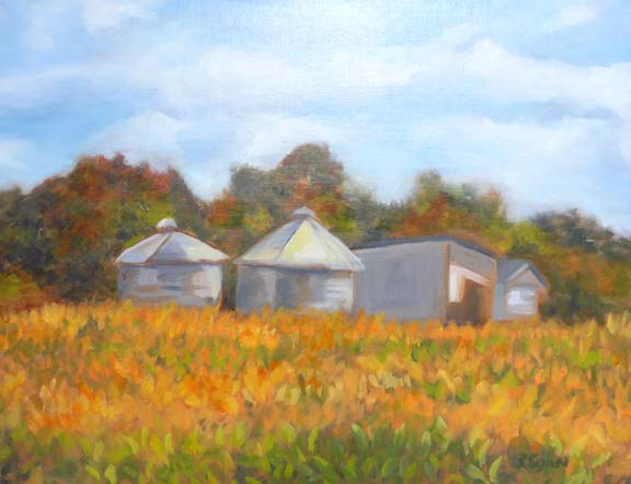 """Silos on a Golden Field"""