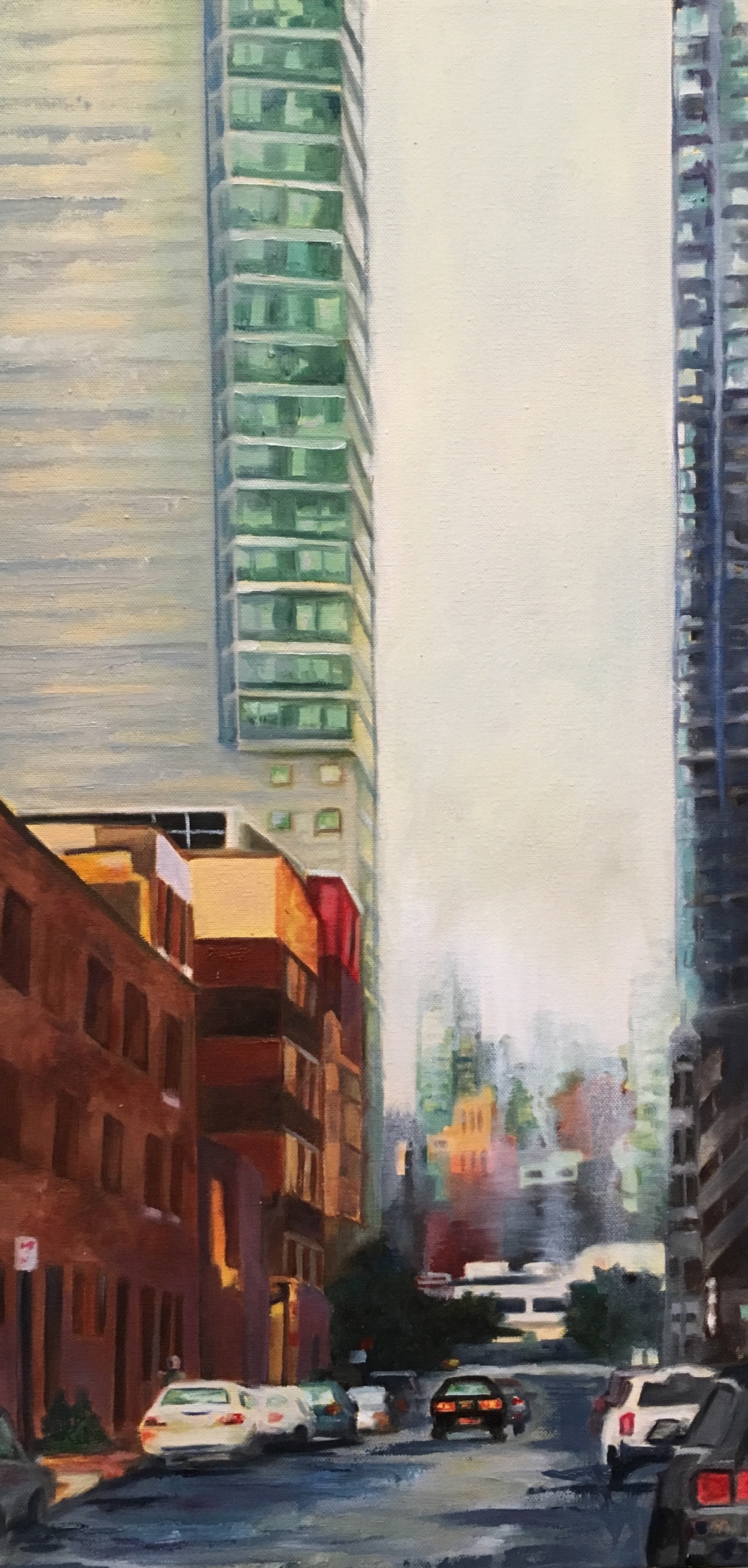 """Long Island City "" oil 30""X18"""