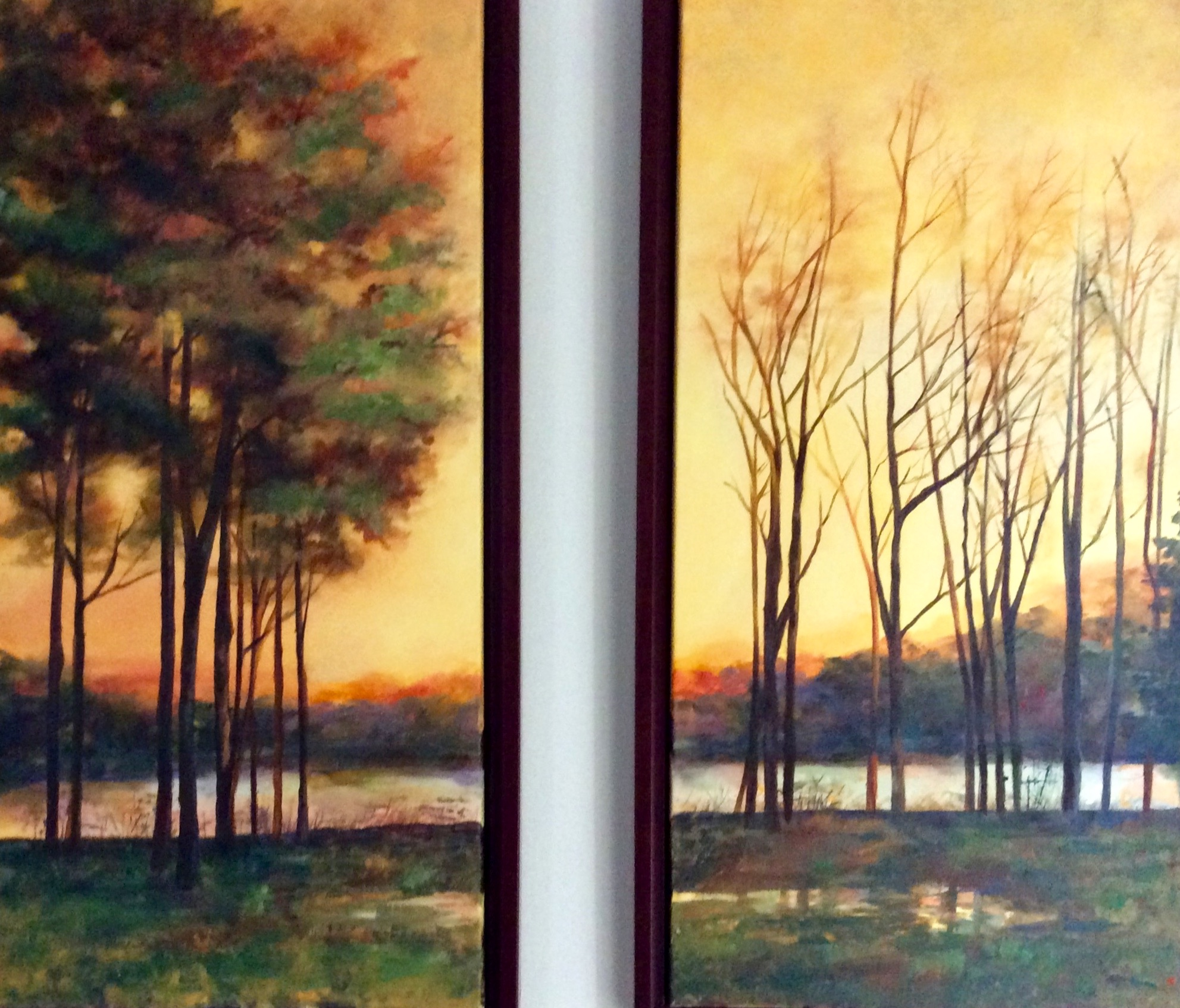"""Autumn Again"" Diptych"
