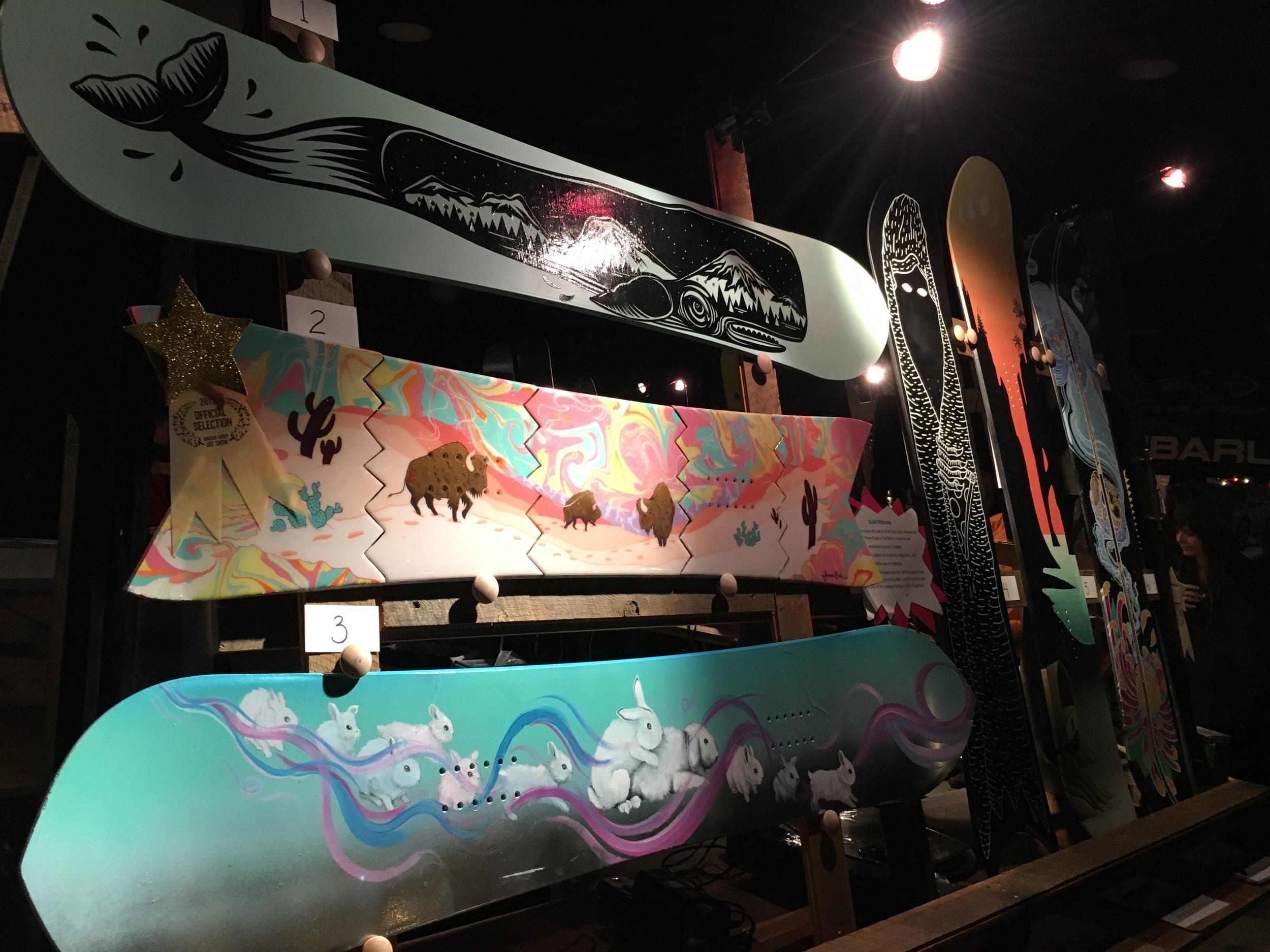 Broken Board Art Auction, Jo, Janessa, Callie