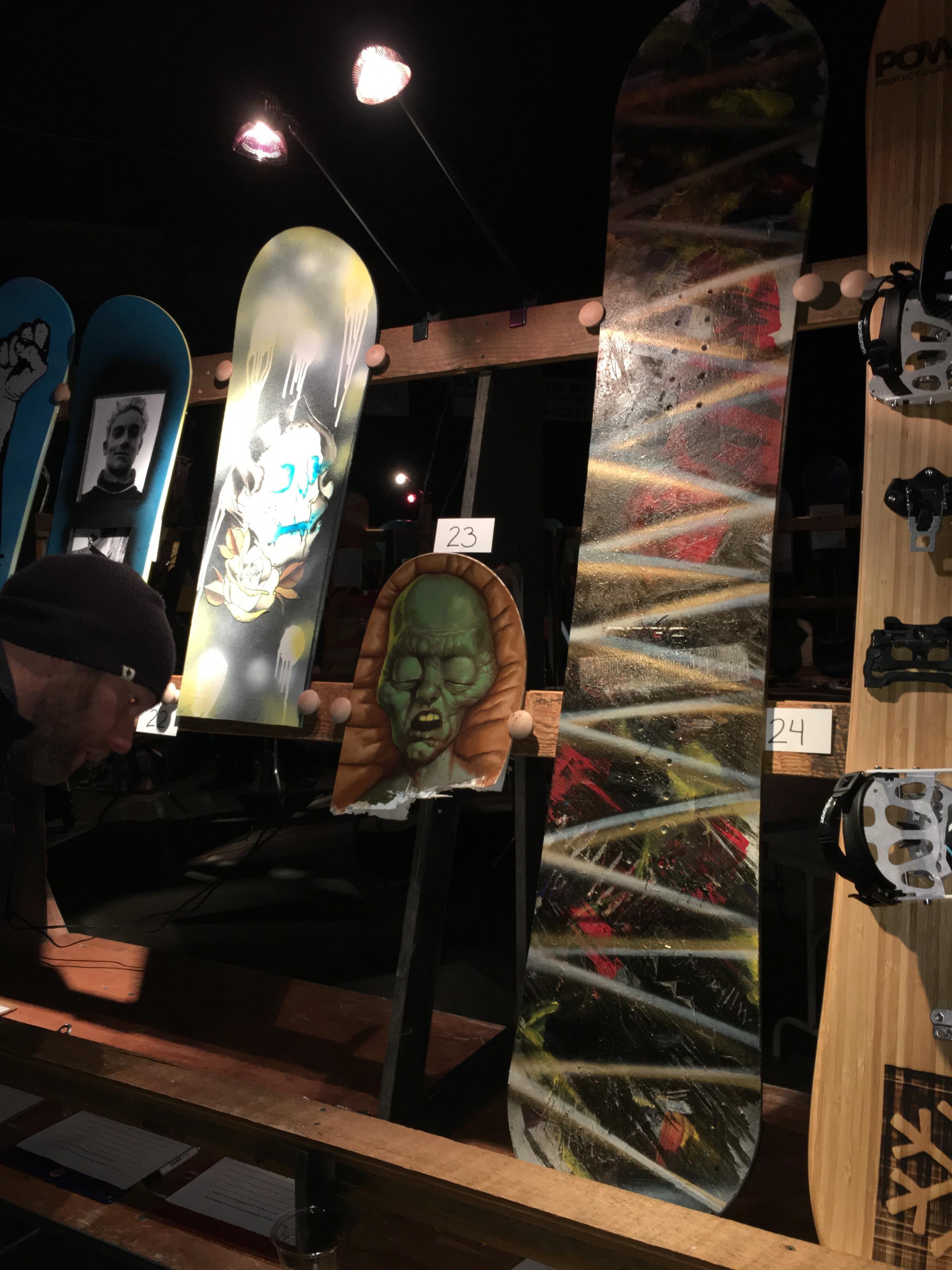 Broken Board Art Auction, Brandon Beckley