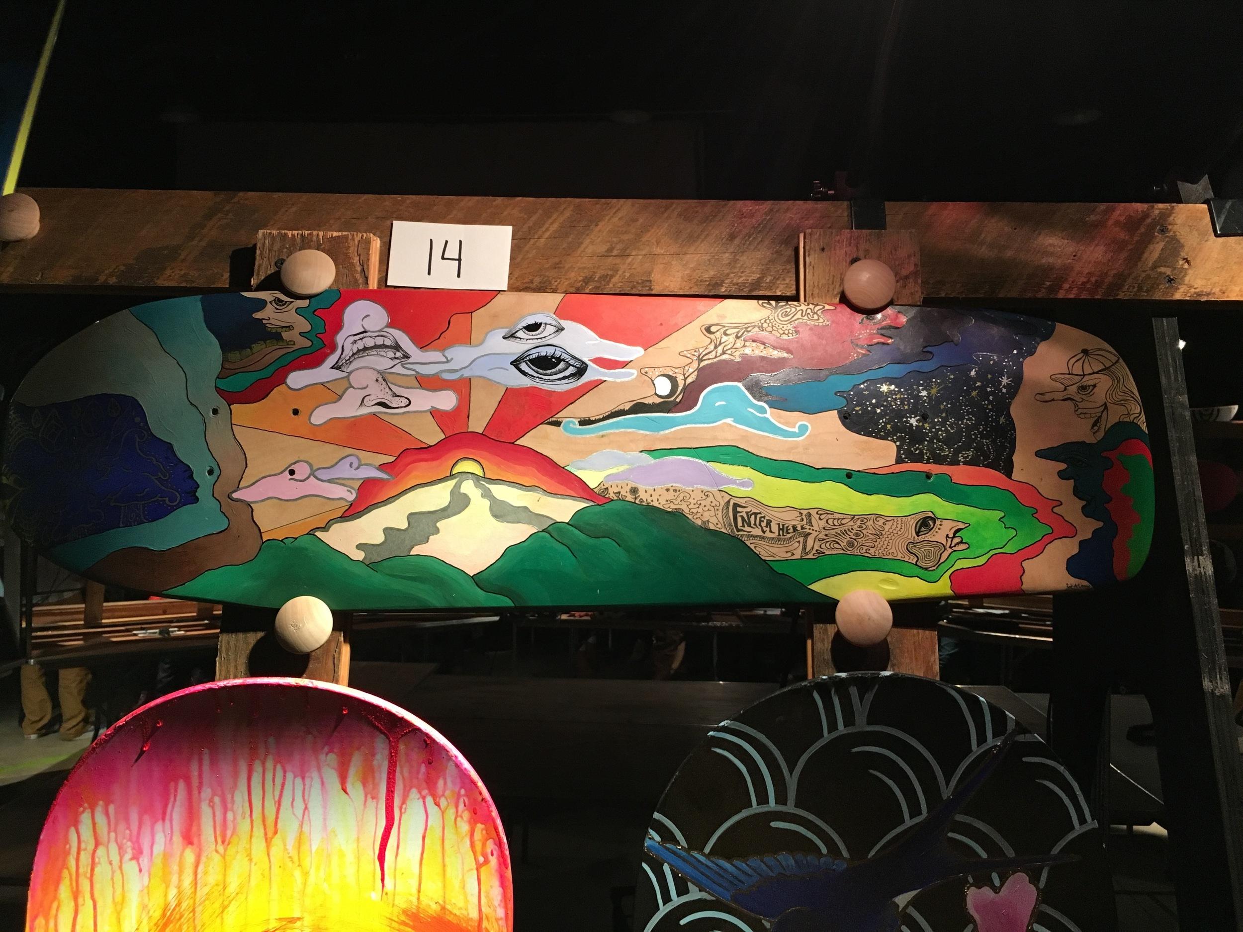 Broken Board Art Auction, Zoe Vernon