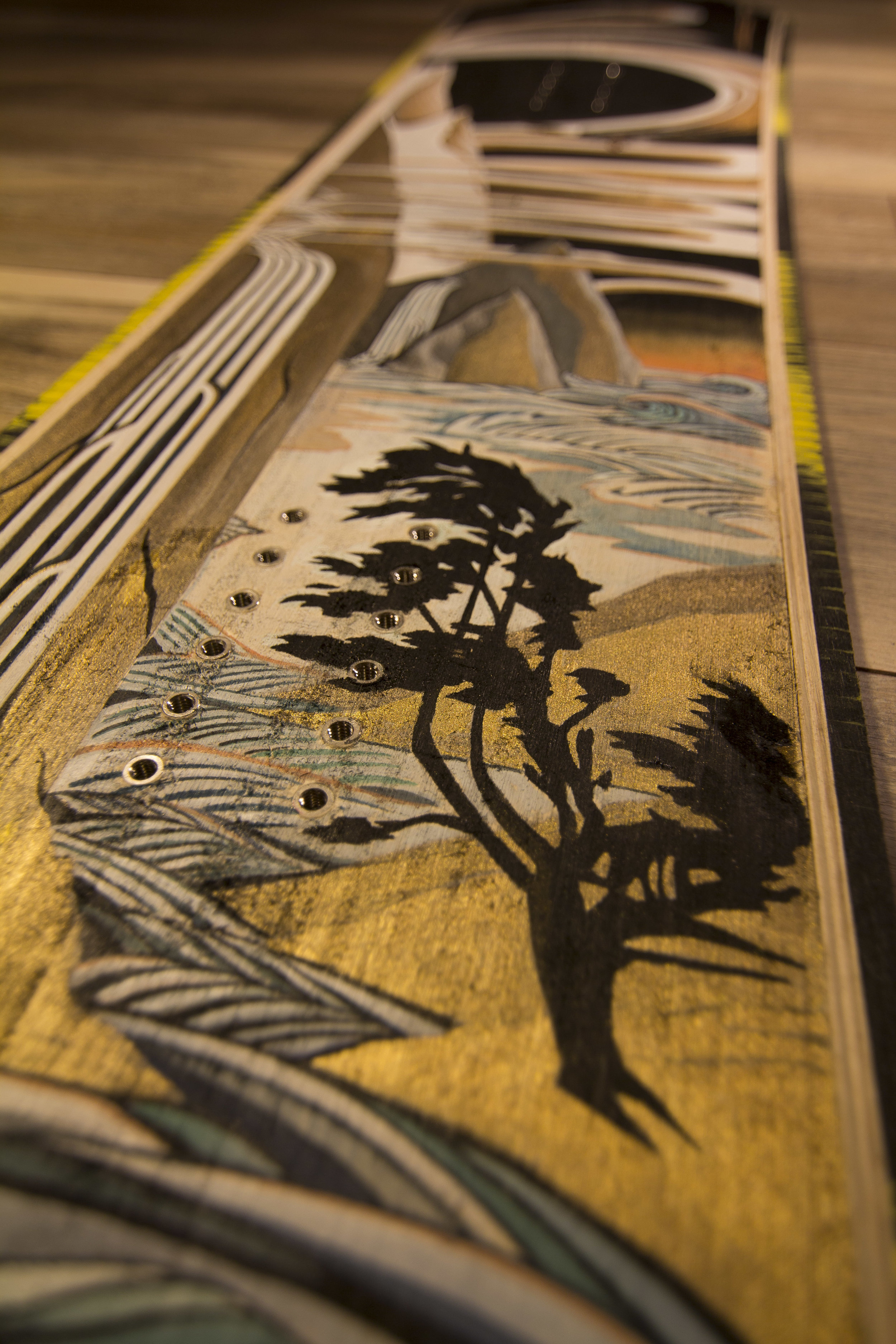 The Cycle, Acrylic & Resin on reclaimed wood core from Mervin Manufacturing