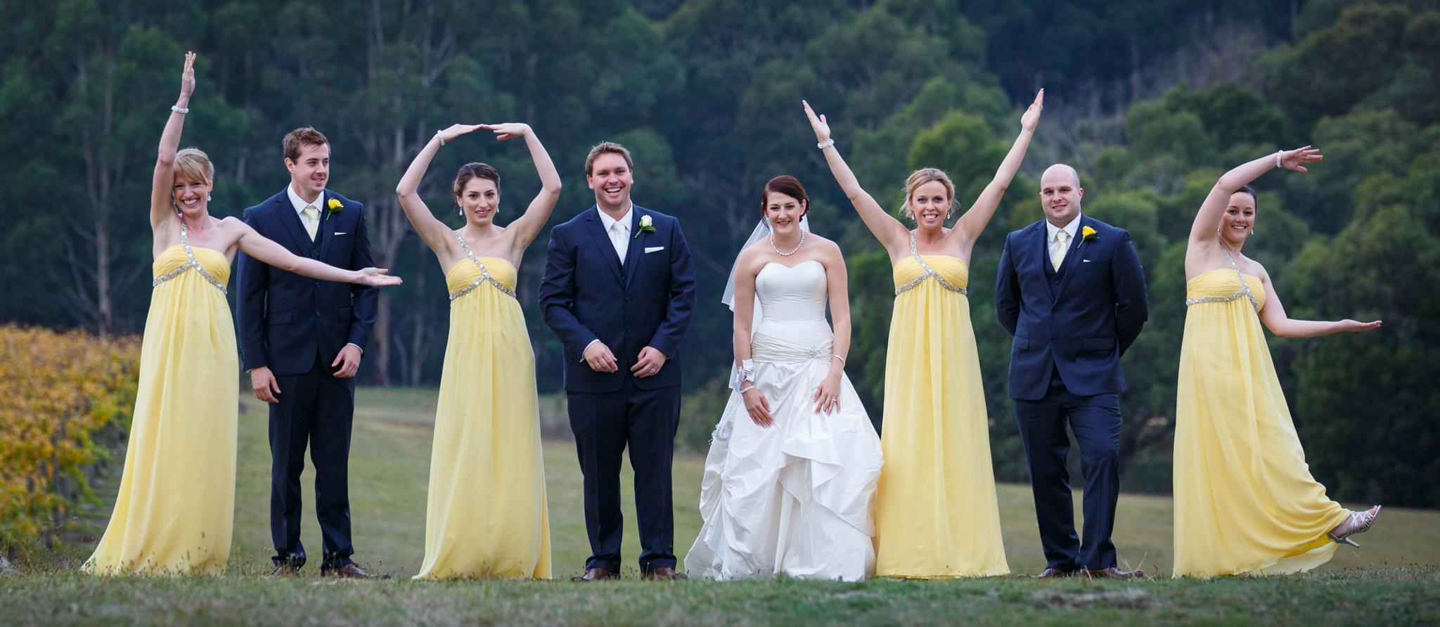 Bridal Party just having fun.