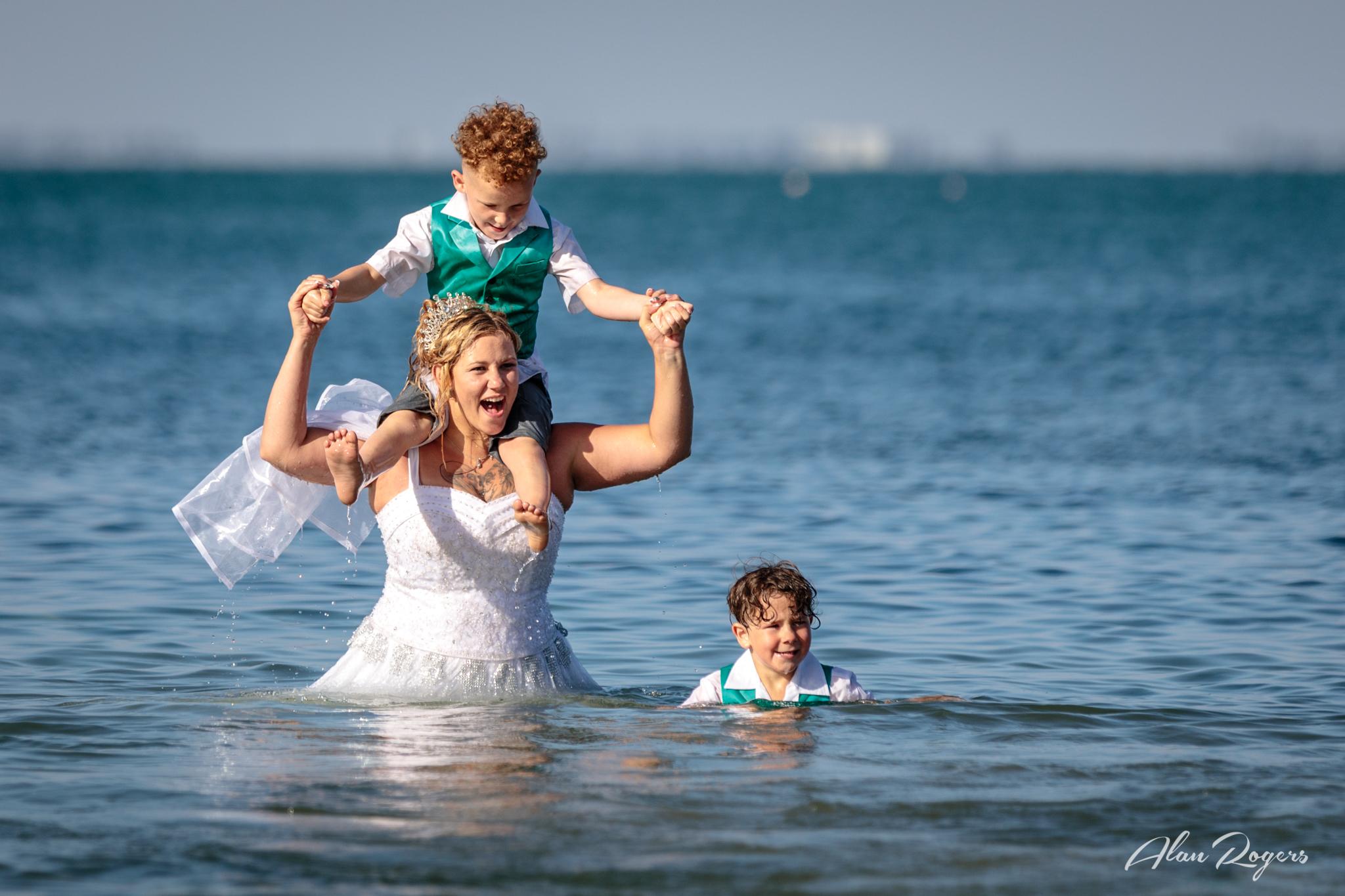 Cooling Off - Main Beach, Geelong, Australia.