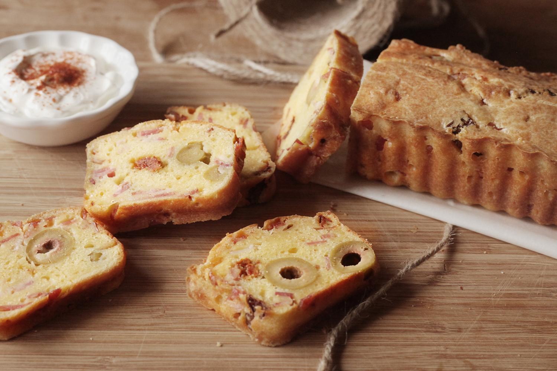 法式橄欖培根乳酪鹹蛋糕