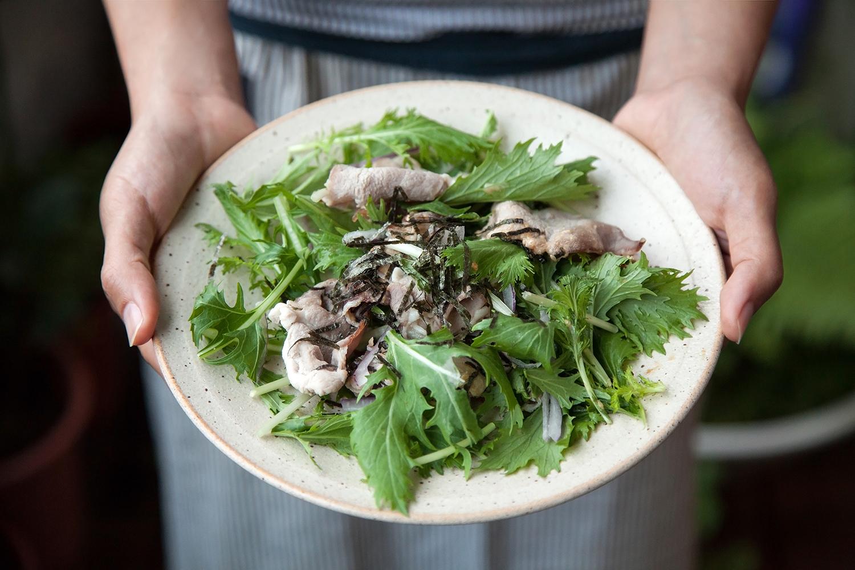 涮涮豬肉水菜沙拉(搭配味噌美奶滋沙拉醬)