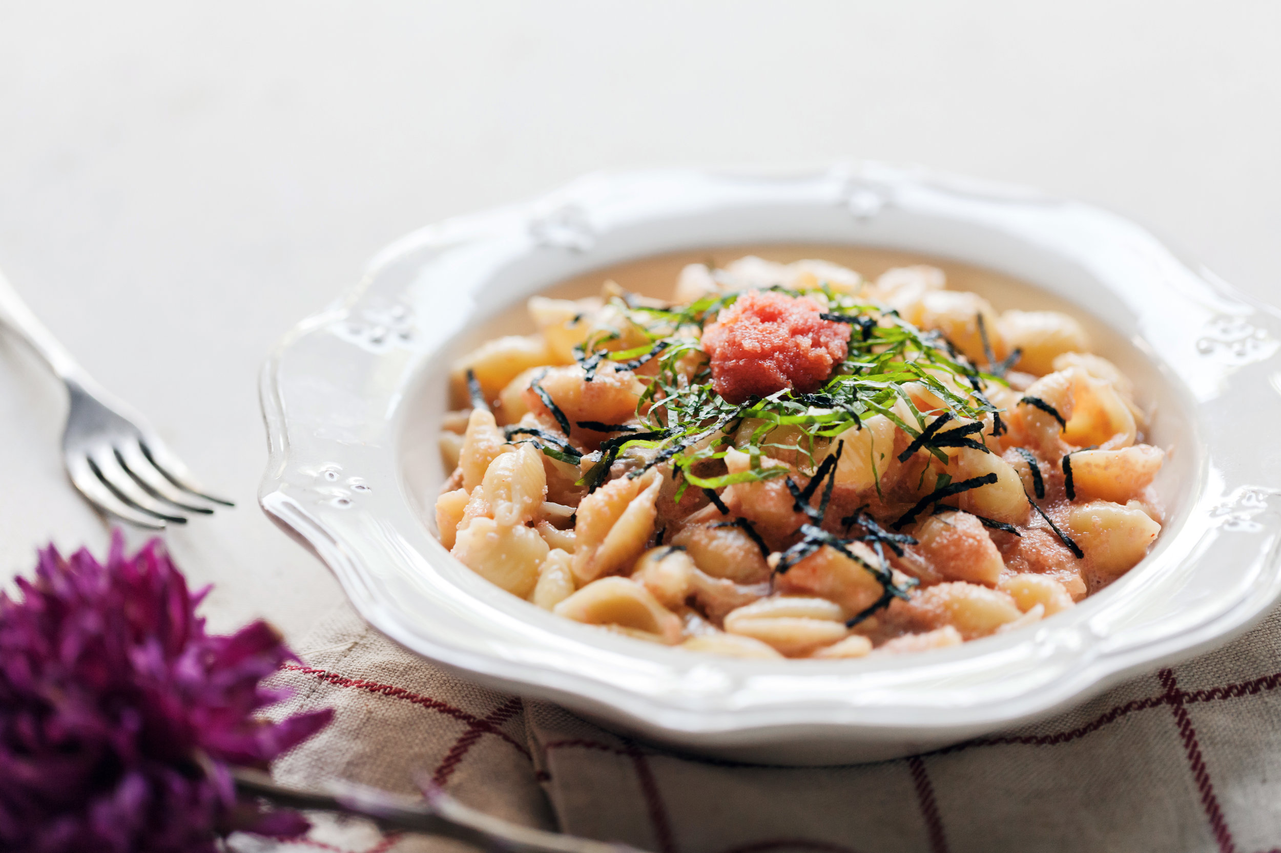 紫蘇明太子奶油義大利麵