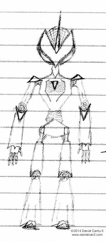 First robot sketch, circa 2007