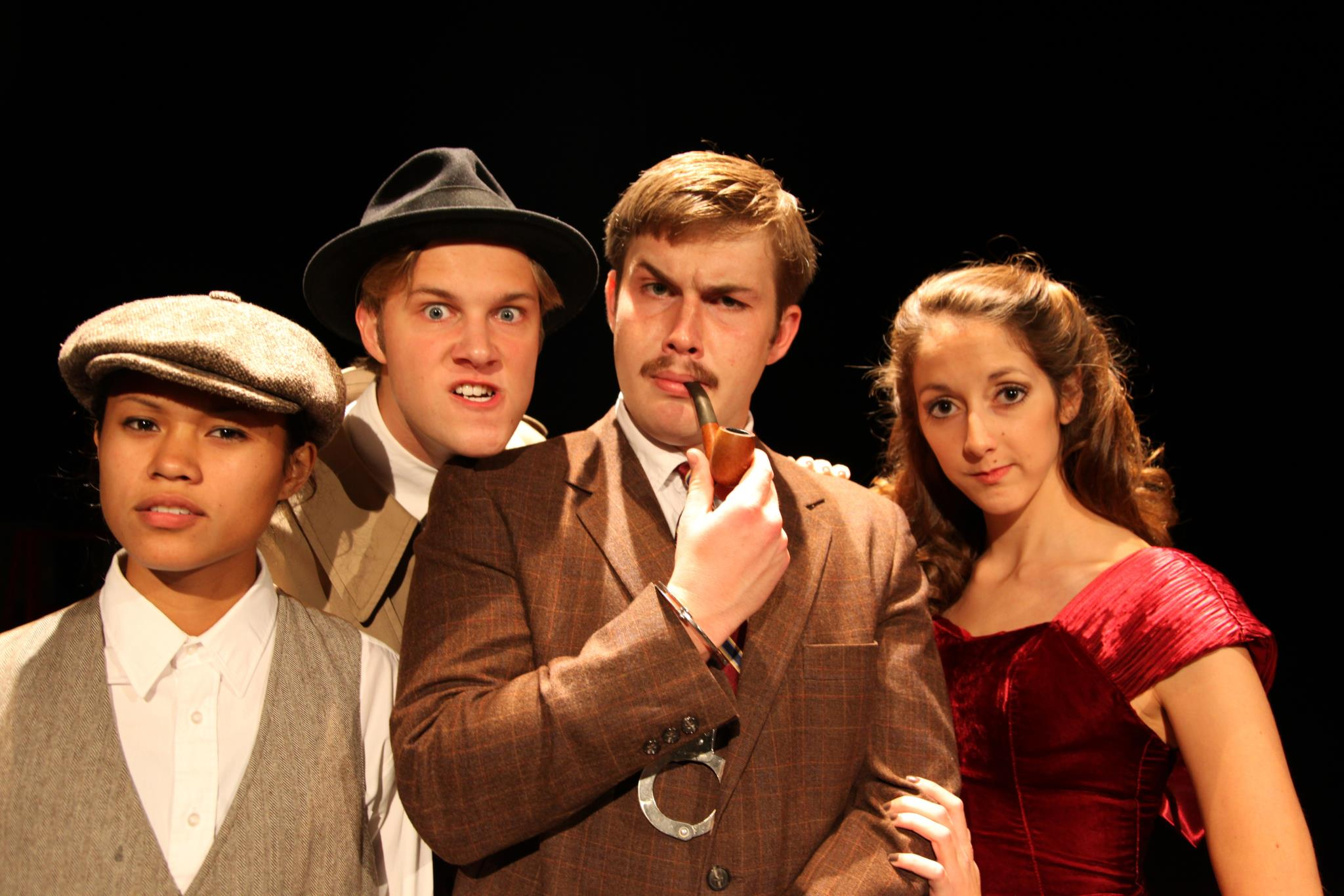 Georgetown College students as characters in  The Thirty-Nine Steps . Via Facebook
