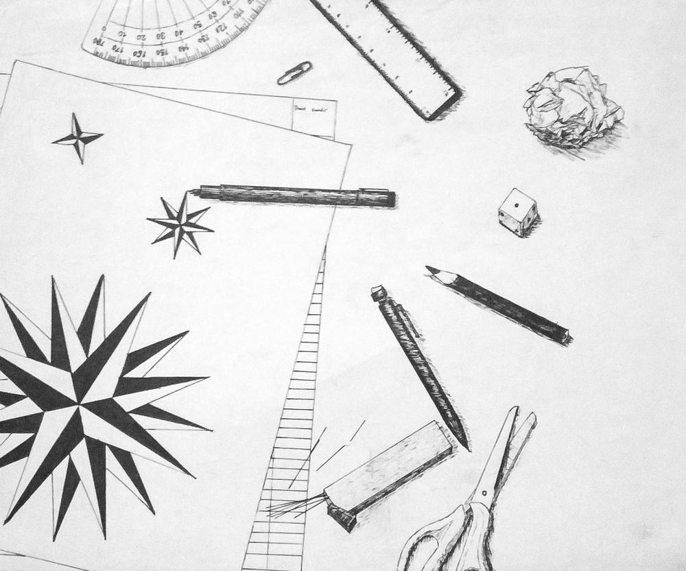 High school doodle, circa 2008