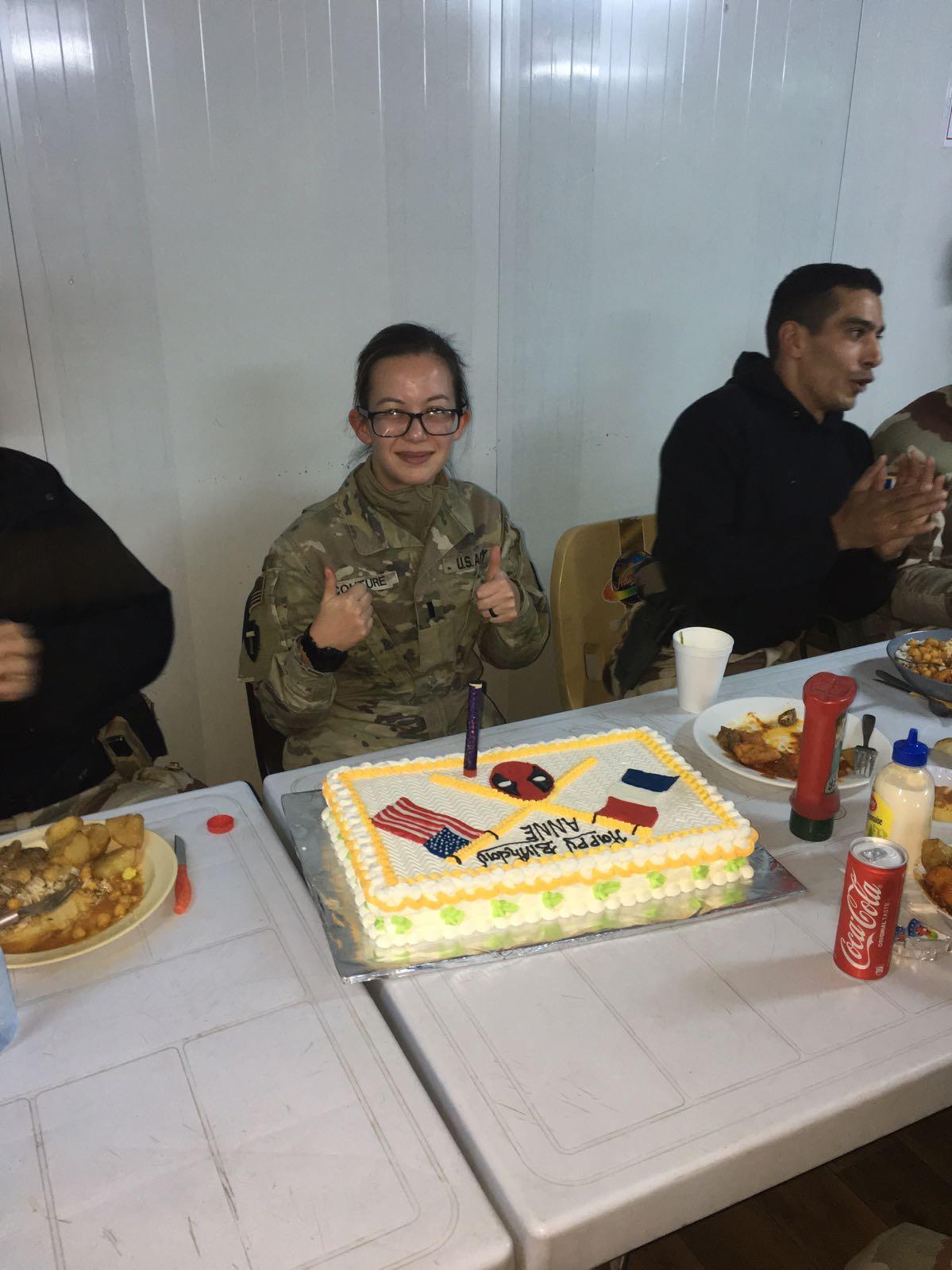 Celebrating my birthday in Iraq