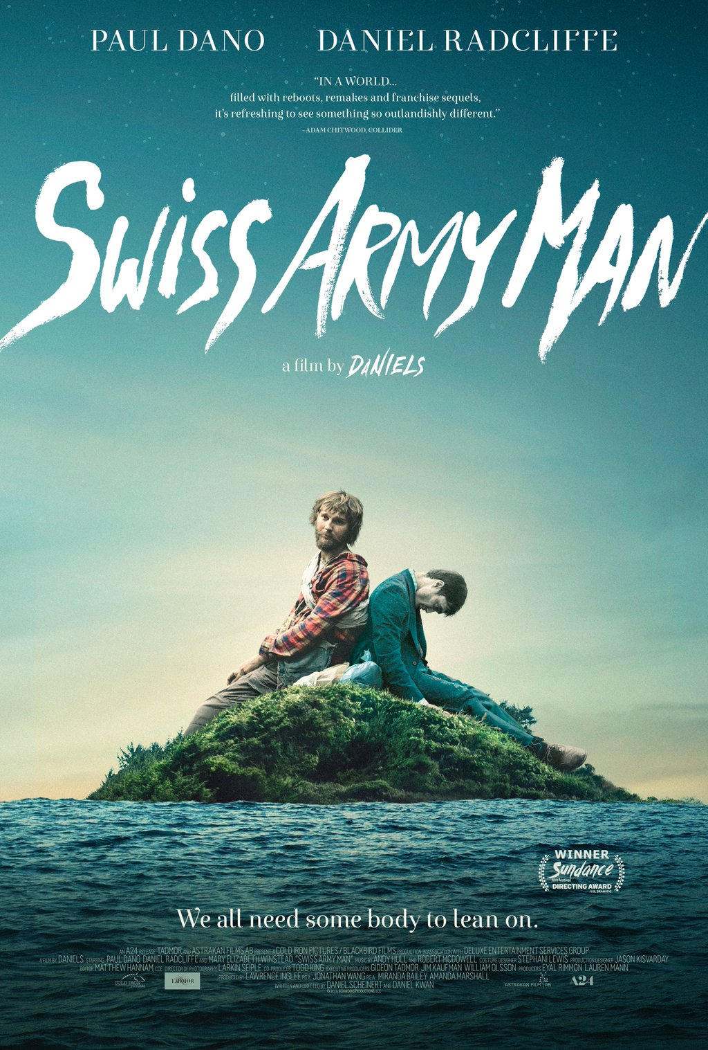 Swiss Army Man - I was laughing out loud! I felt so nervous and out of place, but it made me scream laugh. Daniel Radcliffe plays a corpse, and that line should tell you enough. It gave me hope that there are unique screenwriters out there. Please watch this if you've even had an inkling of a bad day.