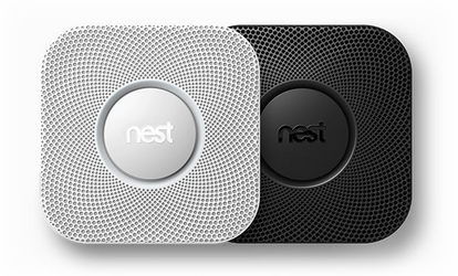 Nest Protect is available in White and Black.