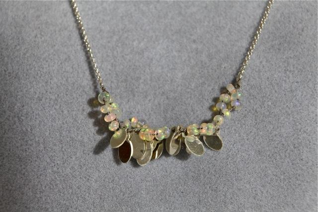 Icy Heart (Ethiopian opal, sterling silver)