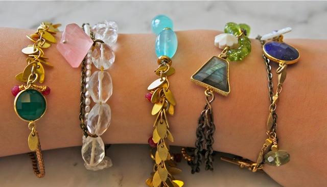 Spring 2014 bracelets: Jaipur collection
