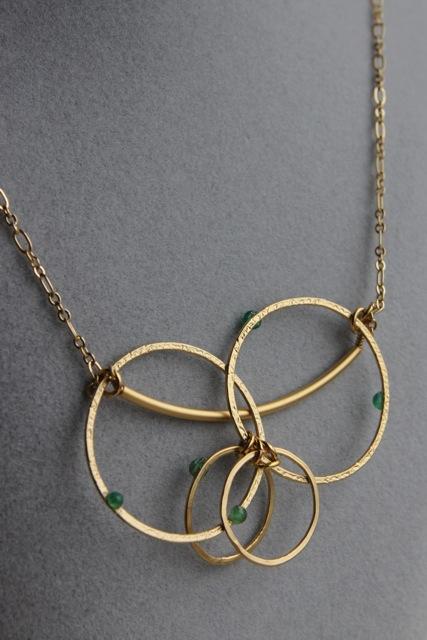 Emerald City (emerald, gold plated brass, brass)