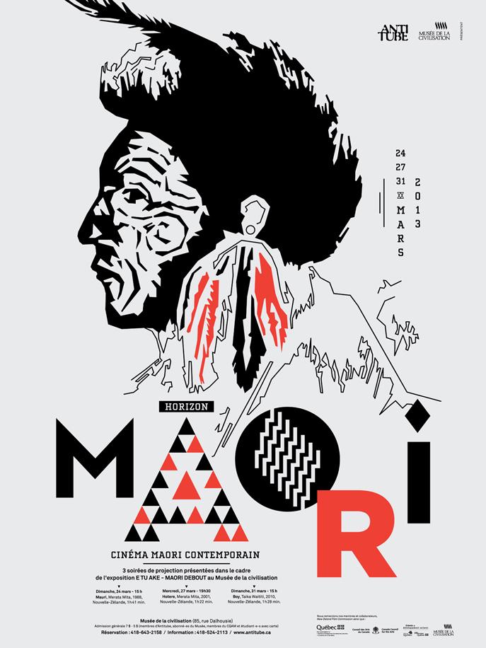 Design graphique-Jeremy-Hall-Figure-Affiche-Maori-Antitube