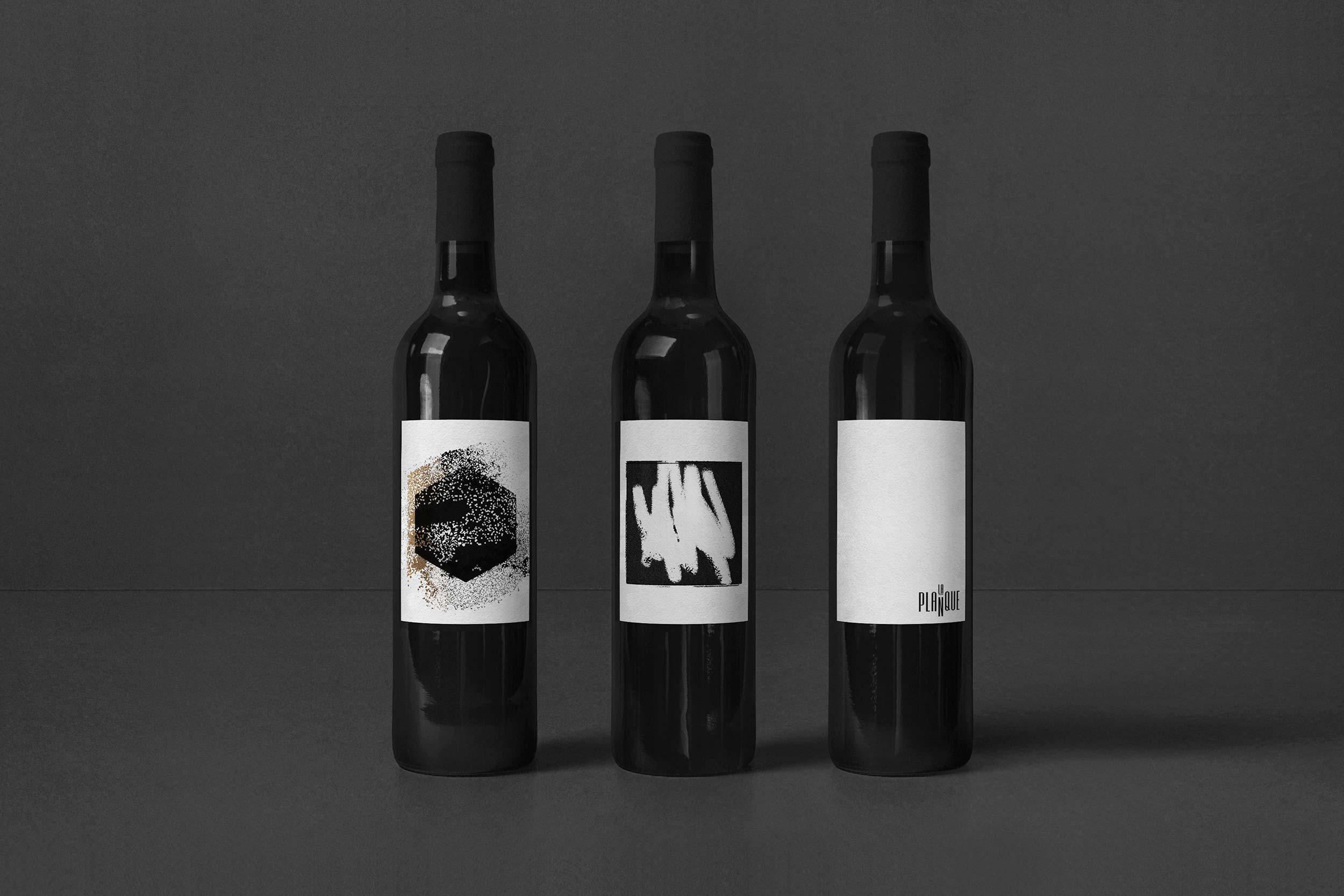 Design graphique-Branding-Logo-Étiquettes-Vins-Restaurant-La planque-Québec