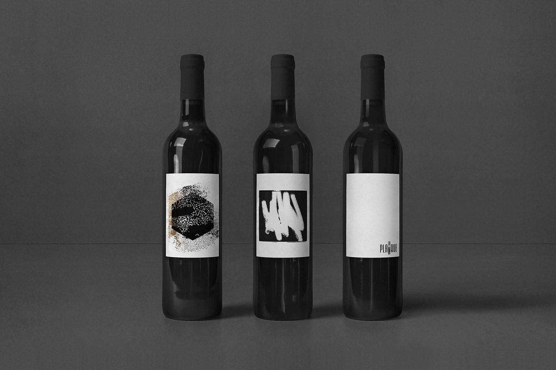 Figure-Branding-Logo-LaPlanque-Restaurant-Quebec-Design-Graphique-Etiquette-Bouteille-Vin-Packaging-Emballage