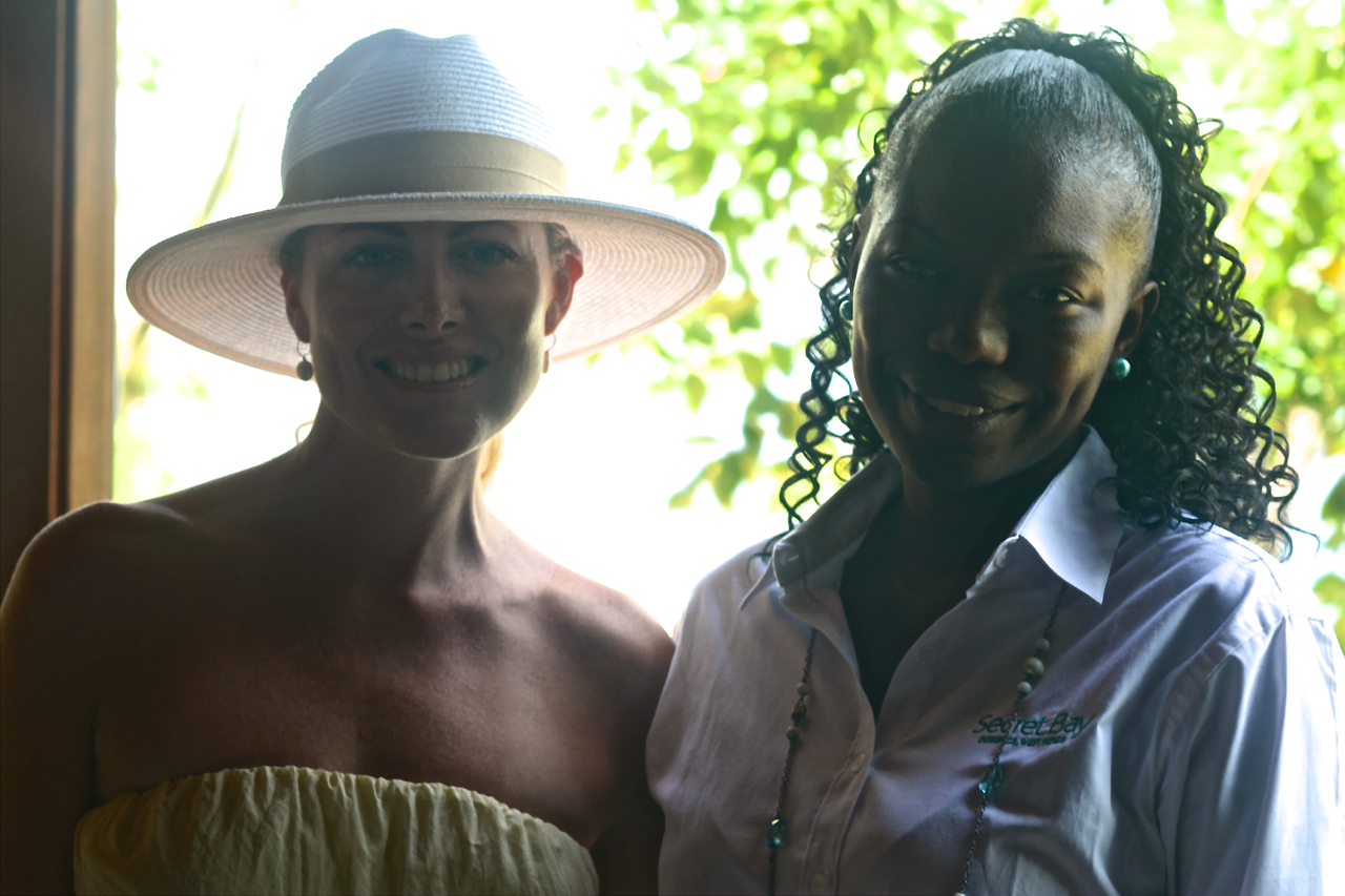 with Anna, hotel manager of Secret Bay