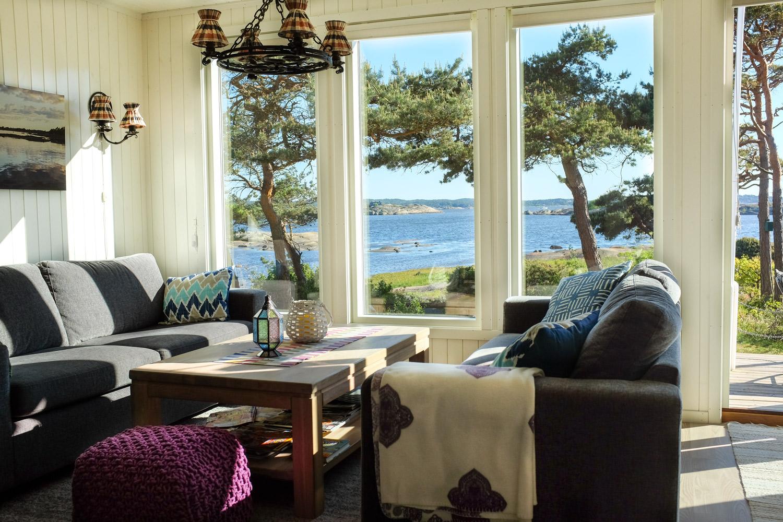 Utsikt fra hytteparadis