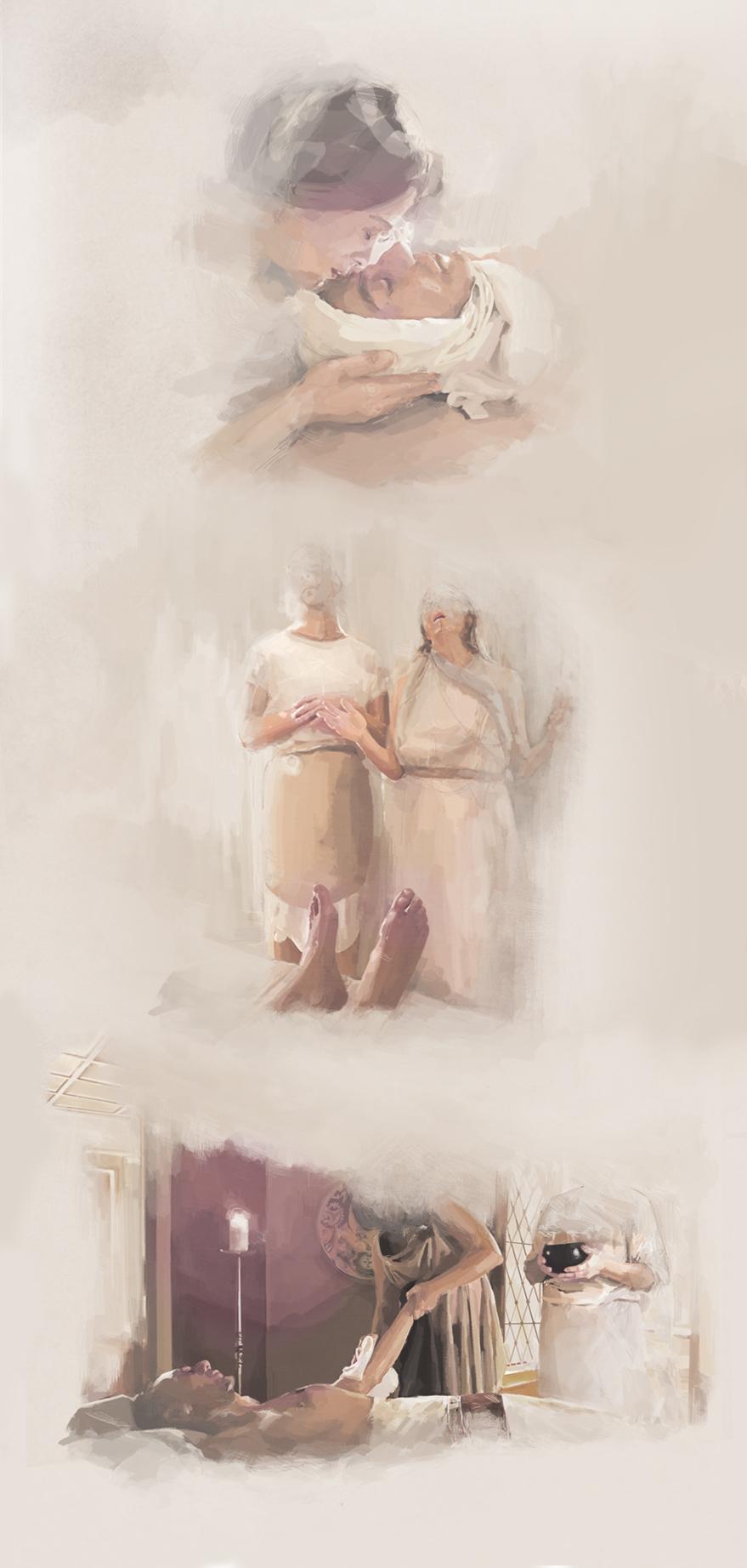 ilustraciones-funeral-romano-julio-cesar-mask-almu-cuesta.jpg