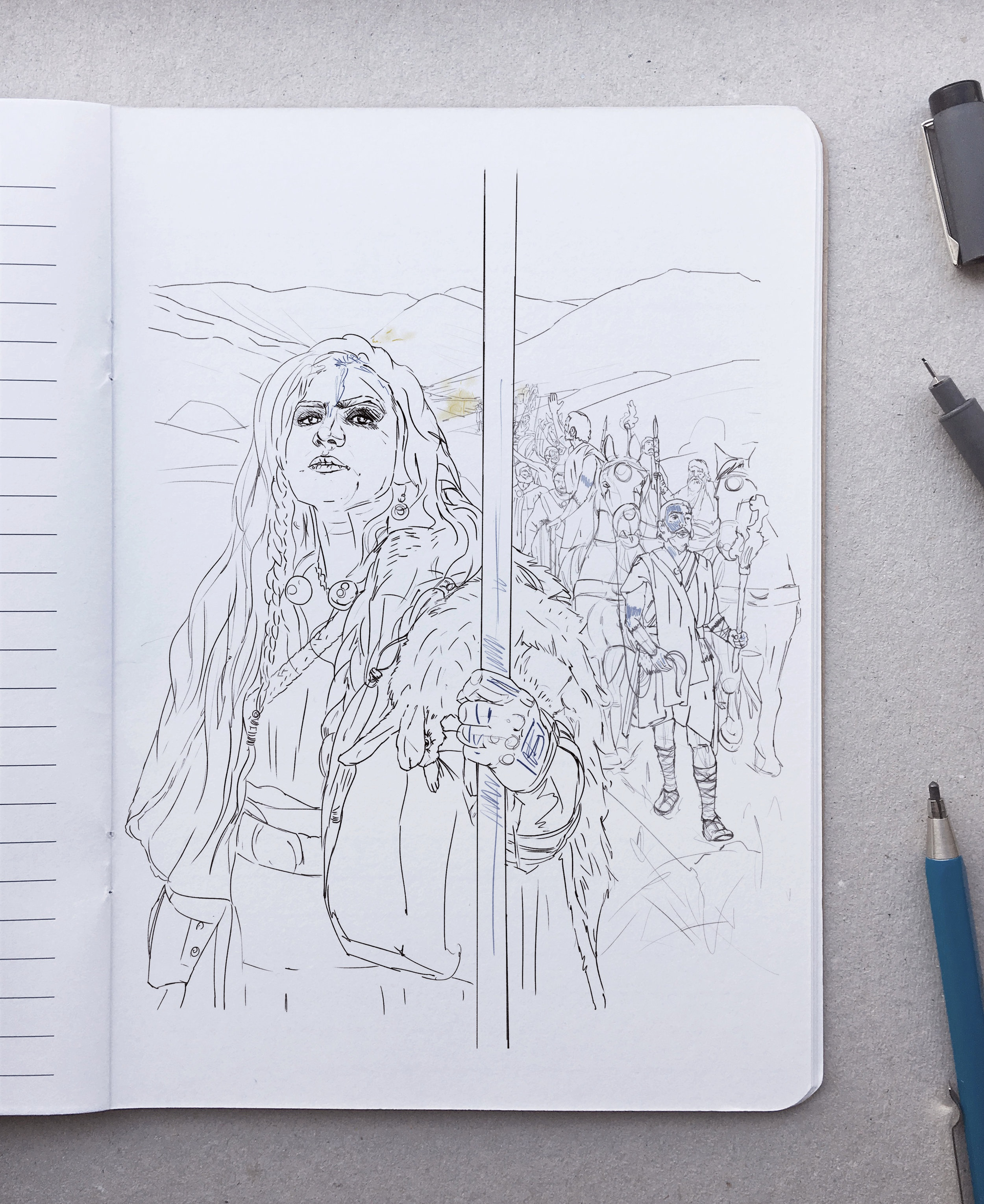 First sketch of Boudica.