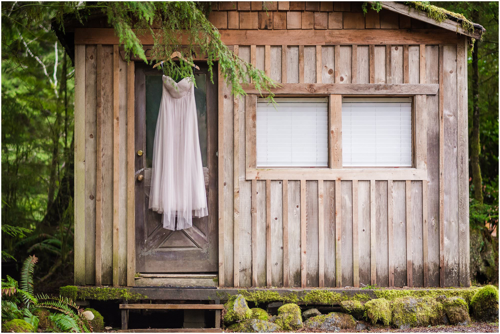 This is a Cape Flattery, Washington Elopement wedding. The dress is by Jenny Yoo for BHLDN.