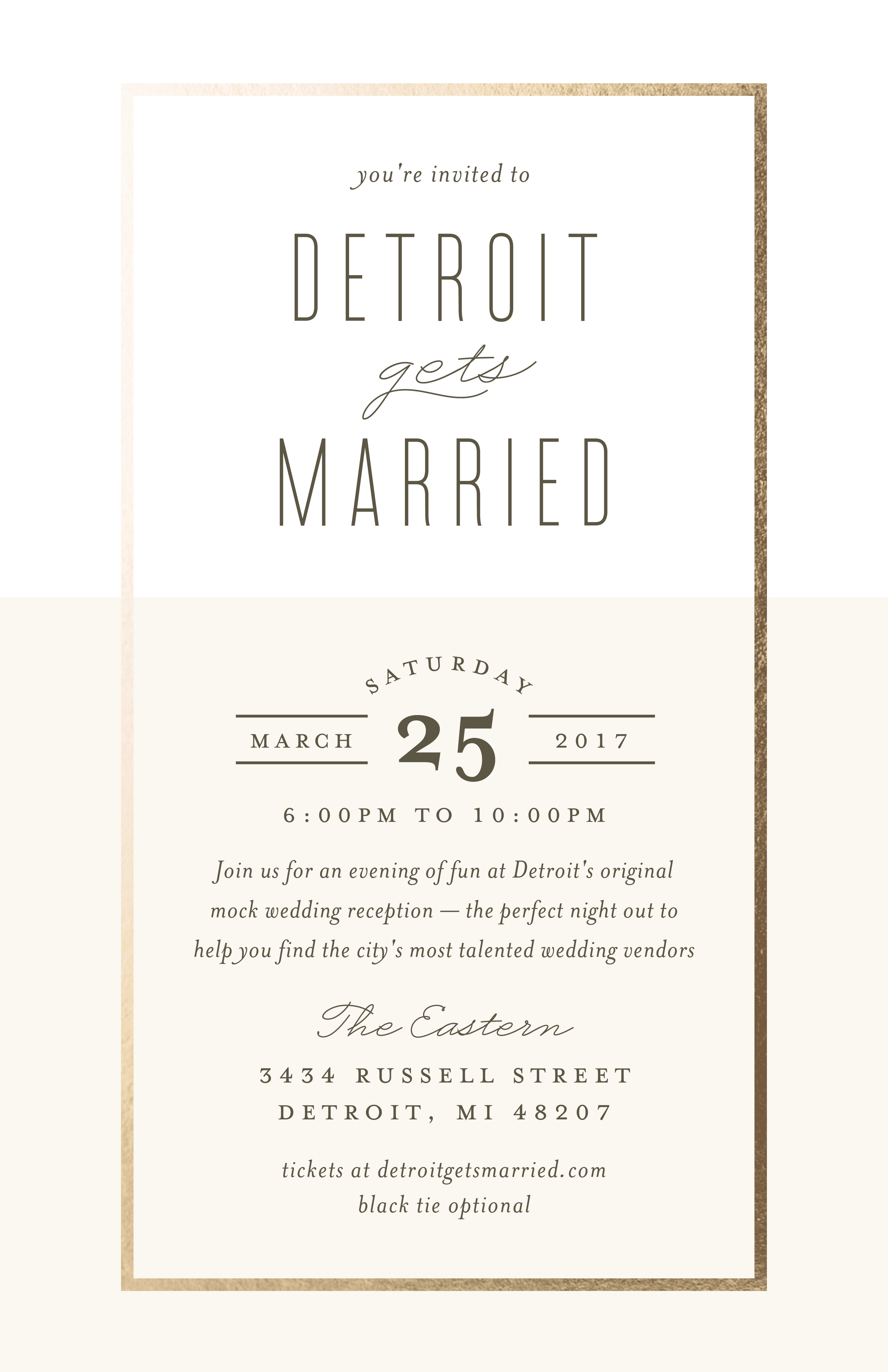 Detroit Gets Married Spring 2017- The Eastern
