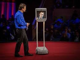"""I said hello to Edward Snowden the robot, and he said hello back.""  Christopher Rodgers at TED2014 Vancouver"