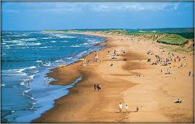 One of our lovely sandy beaches - this is where you'll often find me on a warm summer day!