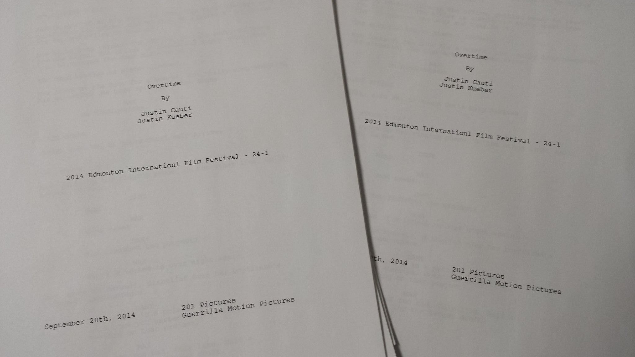 Our first update: the finished script.