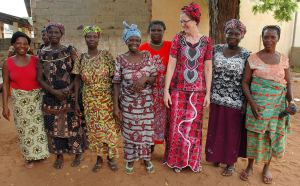 Lynn Hutchinson with Togolese ladies