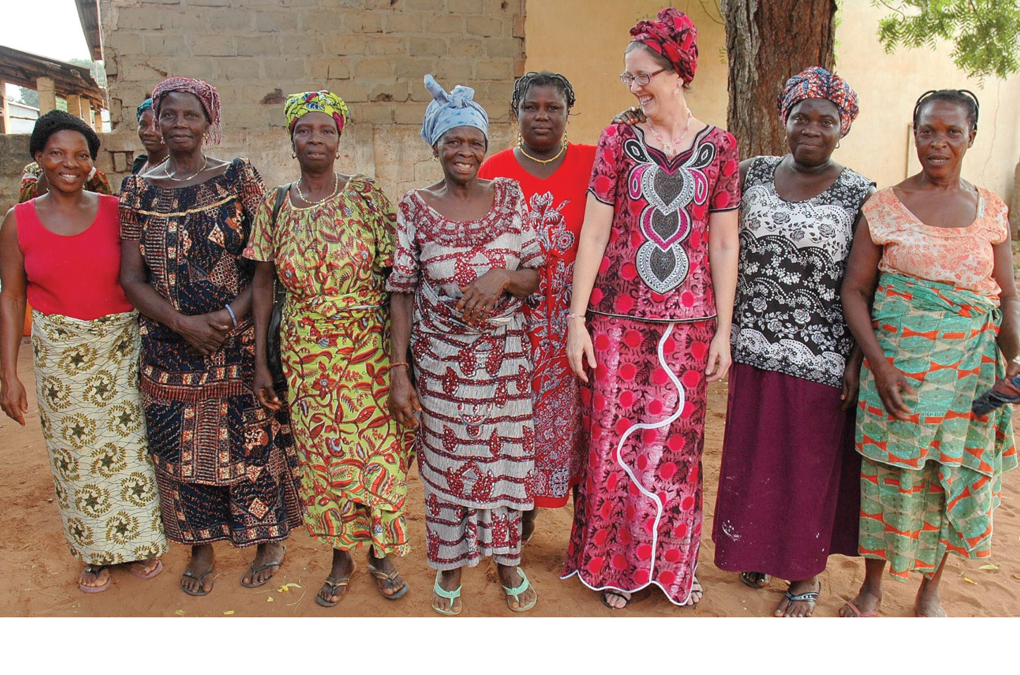 Lynn Hutchinson (third from right) gathers with Baptist women's groups within her community. The Hutchinsons live in the community in which they serve and celebrate the assets that each individual brings to the table.