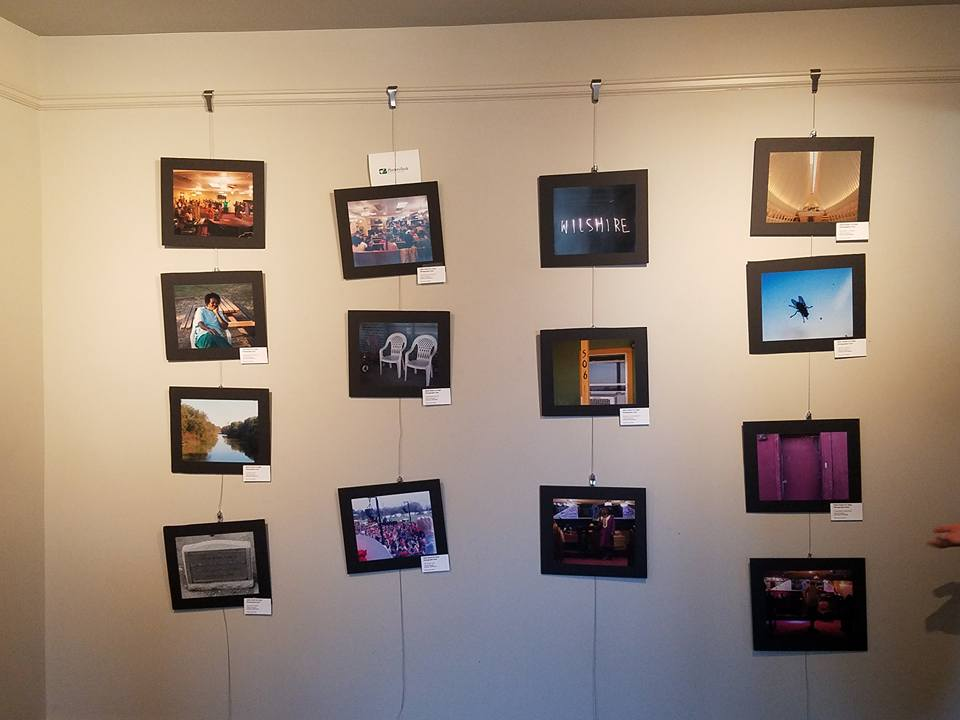 Photography exhibit of the DHH youth at the Delta Art Alliance show.