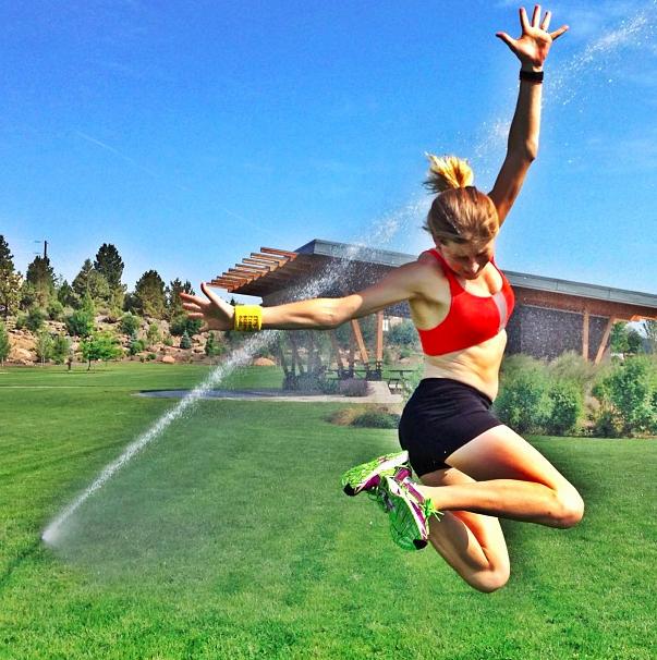 Lauren Fleshman  is healthy, but she definitely keeps it real.